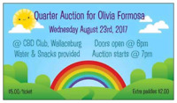 Quarter Auction To Support Olivia Formosa