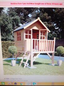 Child's tower playhouse