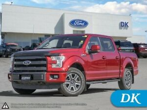 2015 Ford F-150 Lariat 4WD SWB 502A w/Leather, Moonroof, Nav!