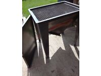 stainless steel coal bbq, bespoke cost over 1000 pounds