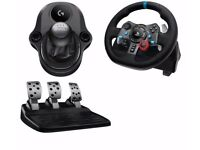 Logitech Driving Force G29 Racing Wheel, Pedals & GEARSTICK for PC PS4 PS3
