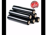 6 STRONG ROLLS BLACK PALLET STRETCH SHRINK WRAP PARCEL PACKING BEST QUALITY BEST PRICE!