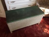 Lloyd loom ottoman blanket box
