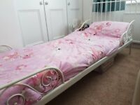 IKEA child exendable bed in white