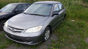 JUNKING 2005 HONDA CIVIC 4 DOOR LX 1.7 5 SPEED