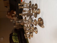 Vintage Brass Candle Holders $30