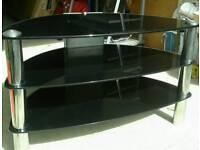TV / Video stand - black glass