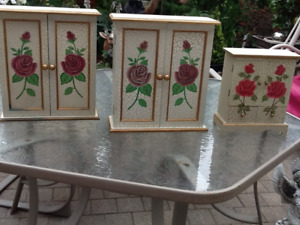 3 decorator small cabinet set