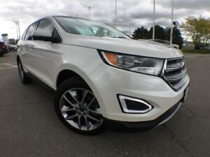 2016 Ford Edge Titanium,Fully Loaded,Ext Warranty Inc+Low Fin!!