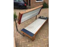 FREE SUN BED OLD BUT DOES THE JOB