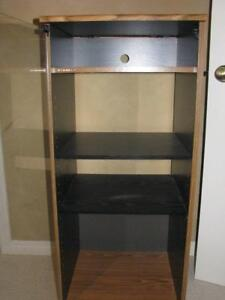 4 Shelf Stereo Stand with Glass Door