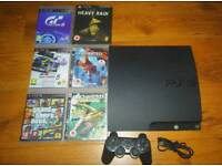 Ps3 320gb all wires 6 games and controller