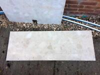 Marble hearth and back panel