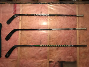 Autographed Game used sticks