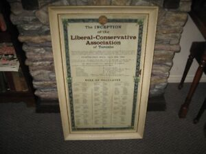 1886 Inception of Liberal-Conservative Association of Toronto