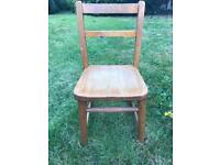 Vintage child's solid wood school chair