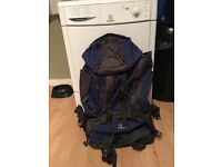 Panther 65L Rucksack. SA Supported. Blue. Perfect Condition, Used Once. Must Be Seen.
