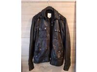 Immaculate mens leather diesel jacket