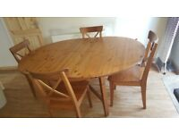 IKEA Leksvik Extendable Dining Table and 4 Chairs