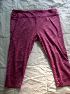 Pink women's activewear capris