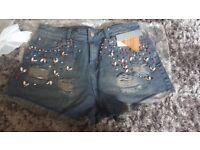 Womens jean shorts size 10