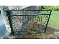 REDUCED!!! - Metal Driveway fence - Black