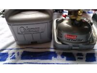 coalman duel fuel stove in its own case