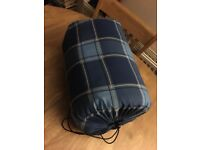 Blue checked sleeping bag good condition