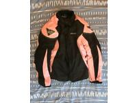 RK Sports Bikewear ladies motorcycle jacket (M) and matching trousers (Size 10).