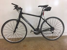 Full carbon Trek 7.9FX. Inc. front & rear lights, cycle computer & dual sided Wellgo M-17 pedals
