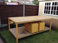 workbench 8ft x 4ft - frame box section.