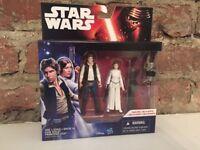 Han Solo & Princess Leia Star Wars Force Awakens Hasbro Toy 2 Pack Disney Movie
