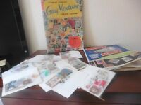 Stamp collection - 2 albums contaoning stamps and several packets of stamps - used/unused