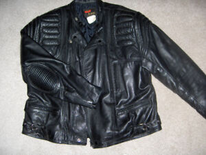 Leather jacket and chaps by Golden Crown (Bristol), size XL