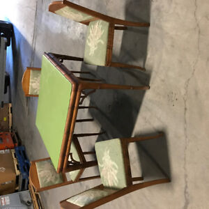 Hand made card table and 4 chairs