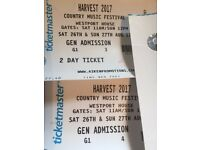 Harvest 2017 Tickets x2 enniskillen