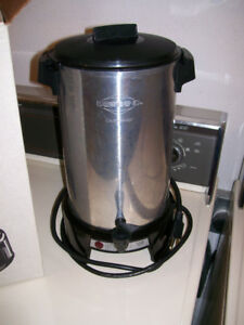 Large 36 cup coffee maker used