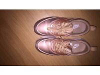 Woman's Nike air max thea, rose gold, UK size 5.5