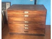 Mahogany drawing cabinet