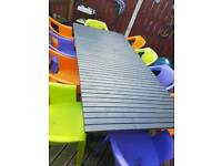 ikea garden table and 10 chairs