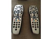 2 x SKY HD Remote without batteries. Used but in good condition