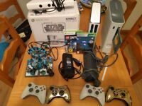 XBOX 360 320GB Star Wars limited edition bundle 4 controllers Kinect 2 games plus spare Xbox 360!