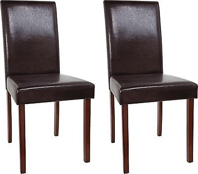 For sale: Homebase Leather Effect Dining Chairs 2 - 6 available