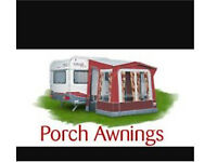 WANTED CARAVAN PORCH AWNING FOR SMALL CARAVAN