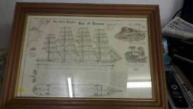Framed jute clipper bay of Panama picture