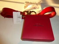 Salvatore Ferragamo red belt designer fashion