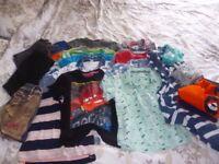 Age 3-4 Boys Clothes Bundle, Tshirts,trousers,shirts