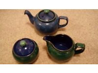 Denby China - blue/green, tea set, plates, bowls
