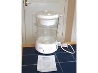 Hinari steam supreme model ST427NV food capacity 9 litres 650w, 3 baskets +rice bowl vgcondition