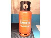 Large 18kg calor gas bottles for caravans,welding, forklifts etc